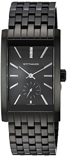 Wittnauer Men's Quartz Stainless Steel Casual Watch, Color:Black (Model: - Watches Wittnauer Mens