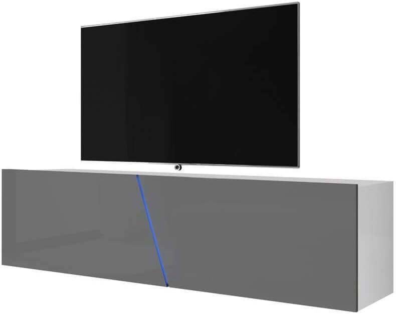 Selsey - Mueble para televisor (160 x 40 x 35 cm), Color Blanco Mate y Gris Brillante: Amazon.es: Hogar