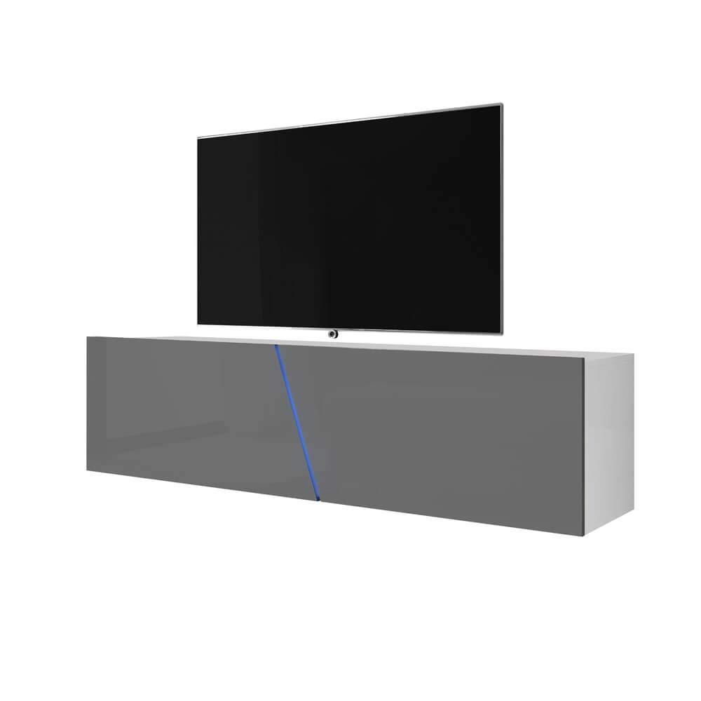 colore: Nero opaco Mobile per TV Selsey 160 x 40 x 35 cm