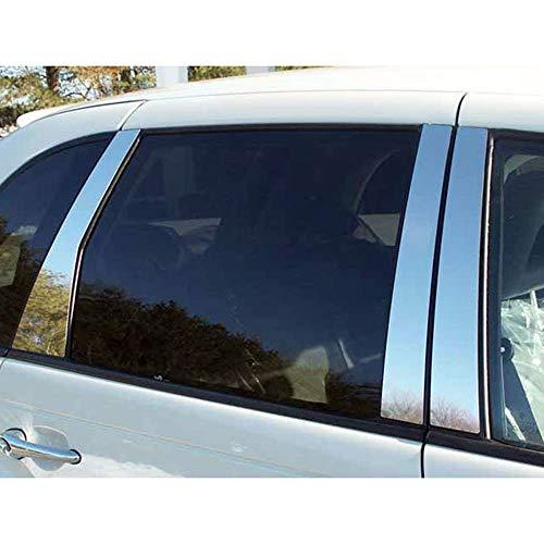 Brighter Design 6pc. Chrome Pillar Post Trim fit for 2001-2002 Chrysler PT Cruiser ()