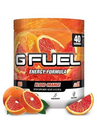 G Fuel Blood Orange Tub (40 Servings) Elite Energy and Endurance Formula 9.8 oz by Gamma Labs