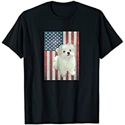 Patriotic Maltese Puppy Lover Tshirts American Flag Gift