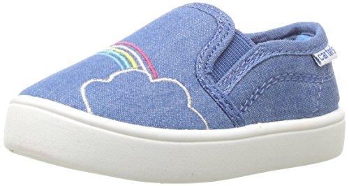 Carter's Girls' Tween Casual Slip-on Sneaker, Blue, 9 M US Toddler