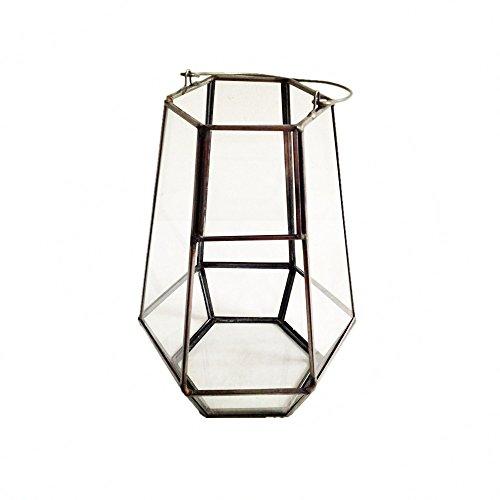 Wanderbal Home Hanging Glass Terrarium In Geometric Lantern Shape