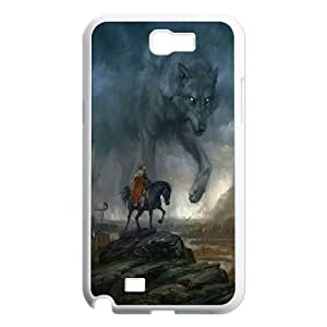 James-Bagg Phone case Wolf love noon,wolf pattern For Samsung Galaxy Note 2 Case FHYY450675
