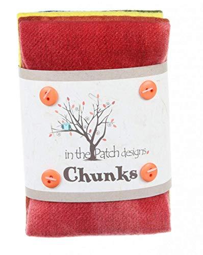 (Hand Dyed Felted Rainbow Wool Chunks 5 Piece 9