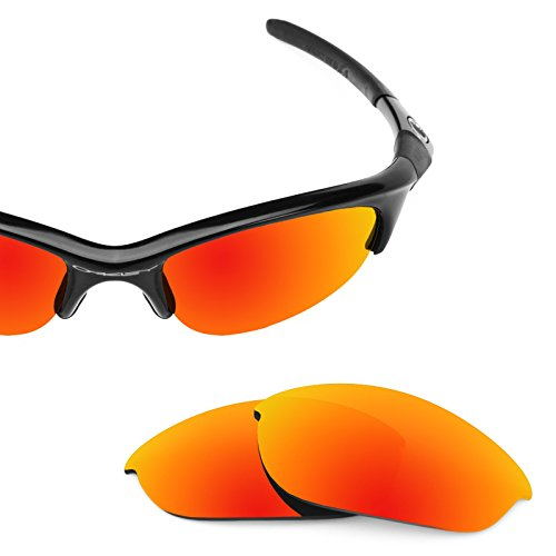 Revant Polarized Replacement Lenses for Oakley Half Jacket Fire Red ()