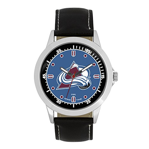 NHL Colorado Avalanche Mens Player Series Wrist Watch, Silver, One Size