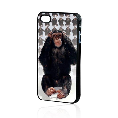handy-point Kunststoffhülle Hülle Schale Schutzhülle Handyhülle Handyschale aus Kunststoff hardcase für iPhone 5C mit 3D Effekt , Affe, schwarz, braun, silber