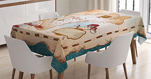 Ambesonne Tablecloth Crossbones Decoration Rectangular