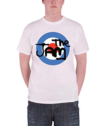 The Jam T Shirt Vintage Classic Spray Target Band Logo Official Mens White - Target Vintage T-shirt