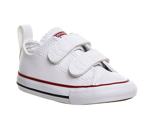 Converse Toddlers Chuck Taylor 2V Ox White Casual Shoe 9 Infants US by Converse