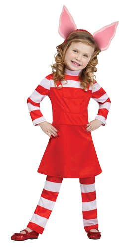 Olivia Toddler Costumes (Fun World Costumes Baby Girl's Olivia The Pig Toddler Costume, Red, Large)