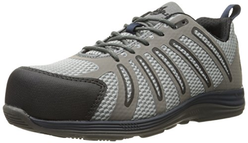 Composite Toe Metal (Nautilus 1747 Carbon Composite Fiber Toe Super Light Weight Slip Resistant EH Safety Shoe, Grey, 8 M US)