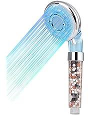 Diyife Hoge Druk Douchekop, Temperatuurgestuurde Verkleuring LED Handdouche, 3 Kleuren/3 Modus, met Filterbal, Verwijdering Chloor Gifstoffen & Schadelijke Stoffen - Geen Elektriciteit Nodig