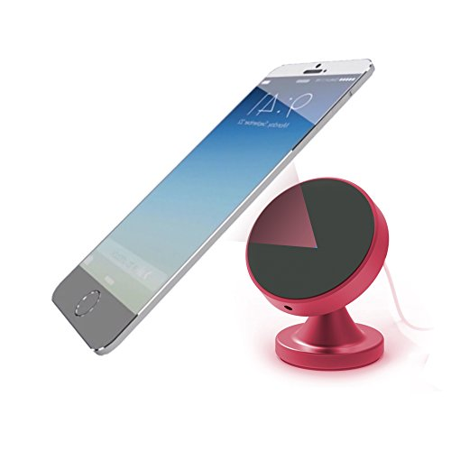 Fast Wireless Car Charger & Desktop Mount with Nano Pad Suction & Magnetic Base For Qi Enable Devices Vehicle Phone Charging Holder iPhone 8/ 8 Plus, iPhone X, Samsung Galaxy S8/ S8+/ S7/ Edge S7/ S6+ by iNannoh