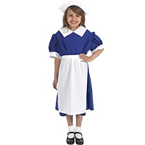 1940s Children's Clothing: Girls, Boys, Baby, Toddler WW2 Nurse costume by Charlie Crow $70.30 AT vintagedancer.com
