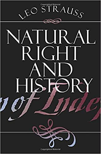 Natural Right and History (Walgreen Foundation Lectures