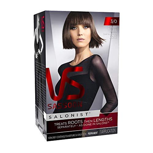 Vidal Sassoon Salonist Hair Colour Permanent Color Kit, 3/0 Darkest Neutral Brown (PACKAGING MAY ()
