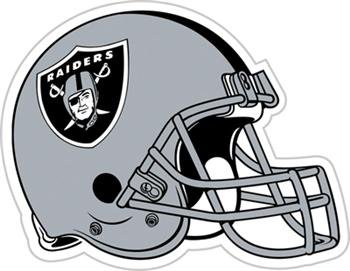 Oakland Raiders NFL 12 inch Vinyl Magnet Set Of 2