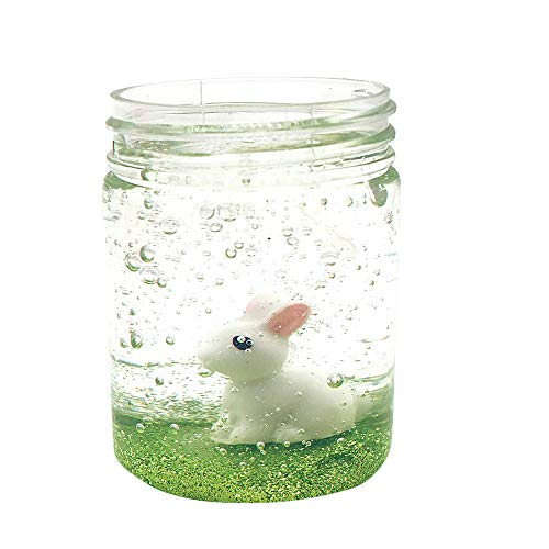 Show Tine ON Newest Rabbit Cows Crystal Fluffy Slime Mud,Cloud Slime Toy Squishy Scented Sludge Toy Floam Slime Stress Relief Toy for Kids and Adults Gifts( 80ml) (A) ()