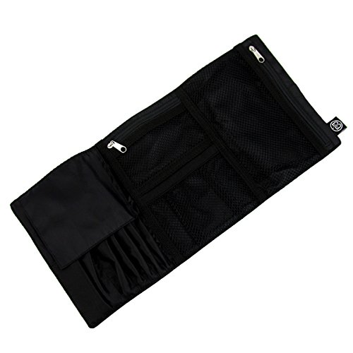 Makeup Brush Roll (Beyond A Bag Rolling Cosmetic Organizer Case Roll, Raven, One Size)