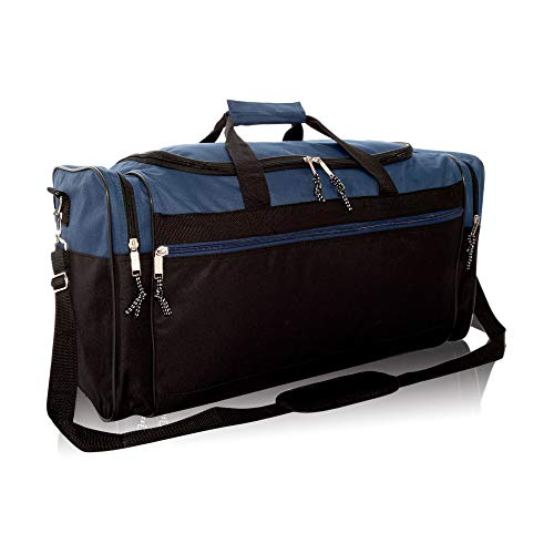 """DALIX 25"""" Extra Large Vacation Travel Duffle Bag in Navy and Black"""