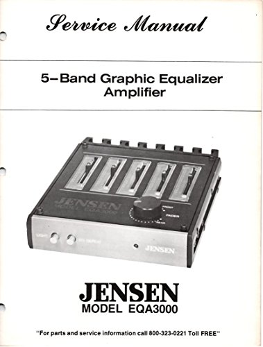 Service Manual for JENSEN EQA3000 5 Band Graphic equalizer Amplifier