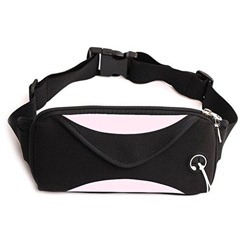 Portefeuille Sport Voyage Senoow Femmes Sac Taille Pack Hommes Téléphone Ceinture Pink Écouteur Pack Fanny Cordon EaBqzpw