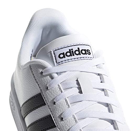 adidas Women's Grand Court, Black/White, 7 M US