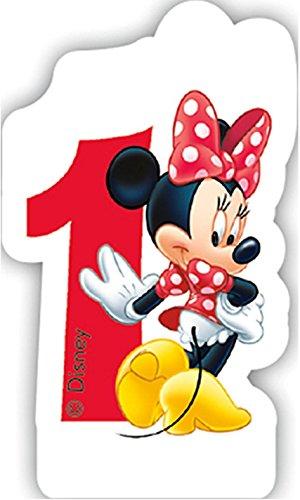 número Vela 1 * * Minnie Mouse para niños Cumpleaños/Fiesta ...