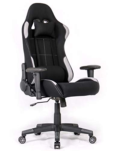Ergonomic Gaming Chair Racing Style Office Chair Recliner Computer Chair with Massage Fabric High-Back E-Sports Chair Height Adjustable Gaming Office Desk Chair - Massage Fabric Chair