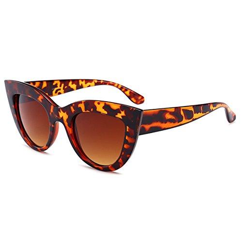 Gafas y mujer clásico vacaciones para diseño polarizadas 100 Gafas niñas sol de gato de para sol ultrafina conducir UV calidad ojos de de para alta Gafas de Marrón de mujeres 400 Co viajar Protección rwxqrR4p