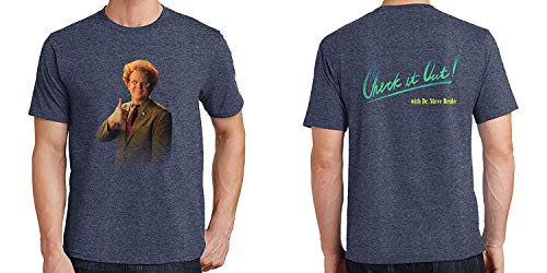 Joom-TS Inspired Funny T-Shirt Dr. Steve Brule 2-Sided Mens T-Shirt Check it Out! Logo Heather Navy XL (Best Of Steve Brule)