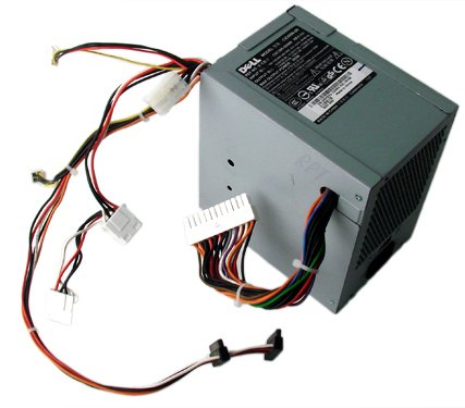 Genuine Dell UH870 305w Power Supply PSU For Dimension 3100, E310, 5000, 5100, E510, 5150, E520, E521, and OptiPlex GX320, GX520, GX620 Small Mini-Tower (SMT) Sytems, Compatible Part Numbers: C9962, CC947, M8802, M8805, M8806, MC164, W4828, W8185, X8129,