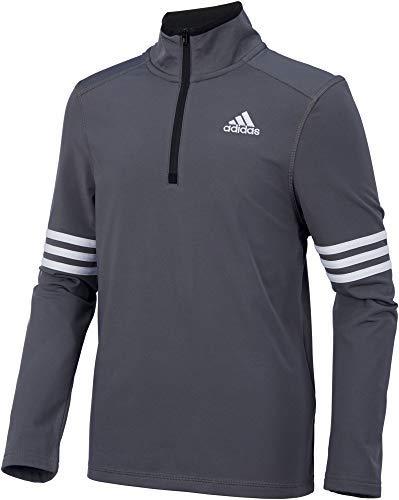 (adidas Boys' Pursuit Half Zip Long Sleeve Shirt)