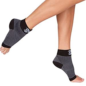 Plantar Fasciitis Socks (1 Pair Small, Black), FDA Registered Premium Ankle Support Foot Compression Sleeves