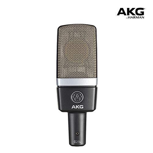 AKG Pro Audio C214 Professional Large-Diaphragm Condenser Microphone, Grey