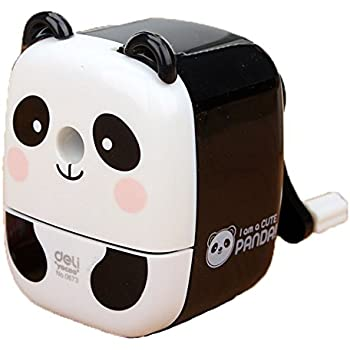 Chinese Cute Panda Hand Rotating Pencil Sharpener For Office Classroom WHITE