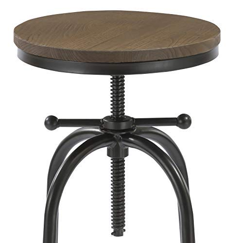 Pleasant Btexpert 5083 27 35 Inches Distressed Industrial Swivel 30 Adjustable Counter Bar Height Pub Stool Wood Forskolin Free Trial Chair Design Images Forskolin Free Trialorg