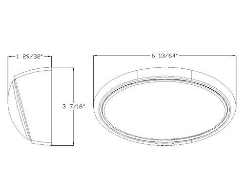 lumitronics rv oval porch utility light with clear  u0026 amber