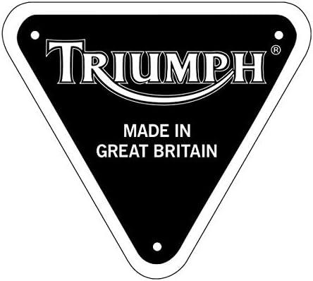 Pegatinas retroreflectantes para casco Triumph negro