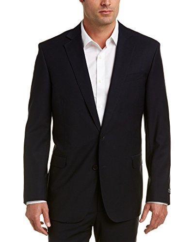 (Brooks Brothers Mens Explorer Regent Fit Wool-Blend Jacket, 44R, Blue)