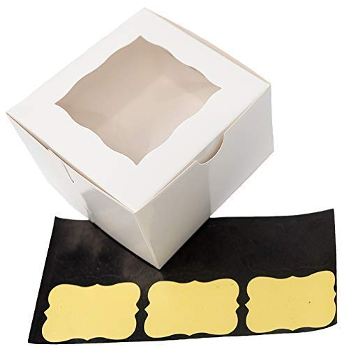 (Small White Bakery/Pastry Boxes - 10 Pack 4x4x2.5
