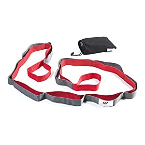 271849bb581 Sport2People Yoga Strap for Stretching and Rehabilitation– Rehab Stretch  Band with 12 Loops to Improve Your Flexibility – Physical Therapy Equipment