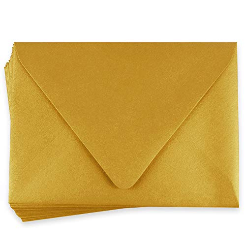 (A7 Stardream Antique Gold Envelopes - Euro Flap, 81T, 25 Pack)