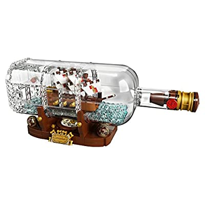 LEGO Ideas Ship in a Bottle 21313 Expert Building Kit, Snap Together Model Ship, Collectible Display Set and Toy for Adults (962 Pieces): Toys & Games