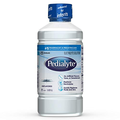 Pedialyte Electrolyte Solution, Hydration Drink, Unflavored, 1 Liter, 8 Count