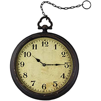 New Amazon.com: Vintage Pocket Watch Inspired Wall Clock With Chain  YF03