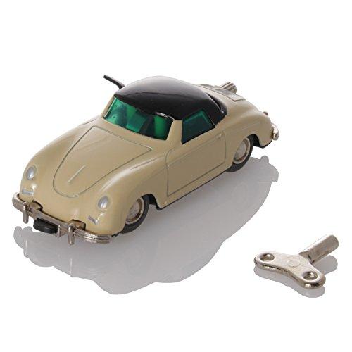 Schuco MicroRacer Porsche 356 ivory/black - Mechanical Tin Toy